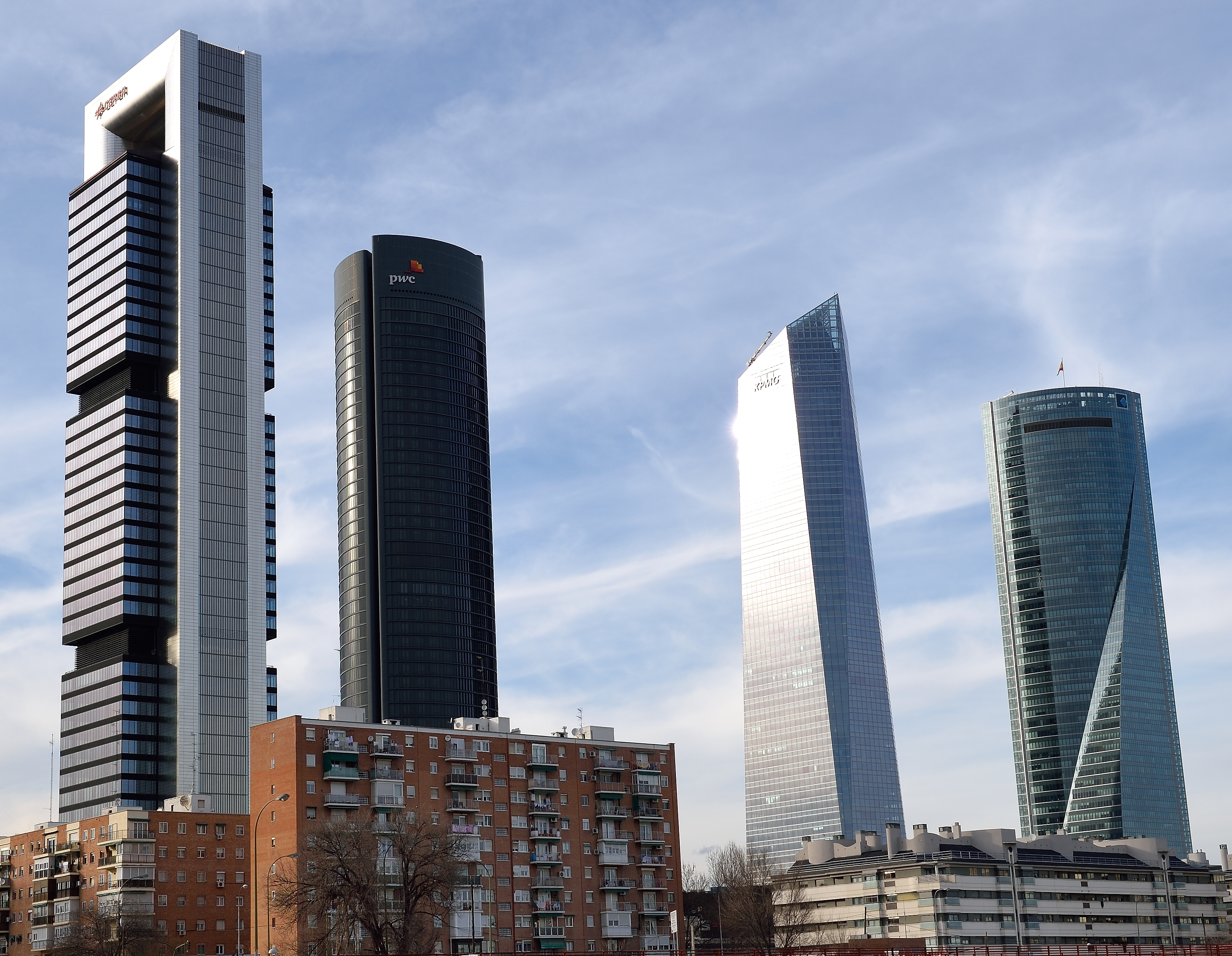 File:Cuatro Torres from Chamartin station in Madrid (32949958965).jpg