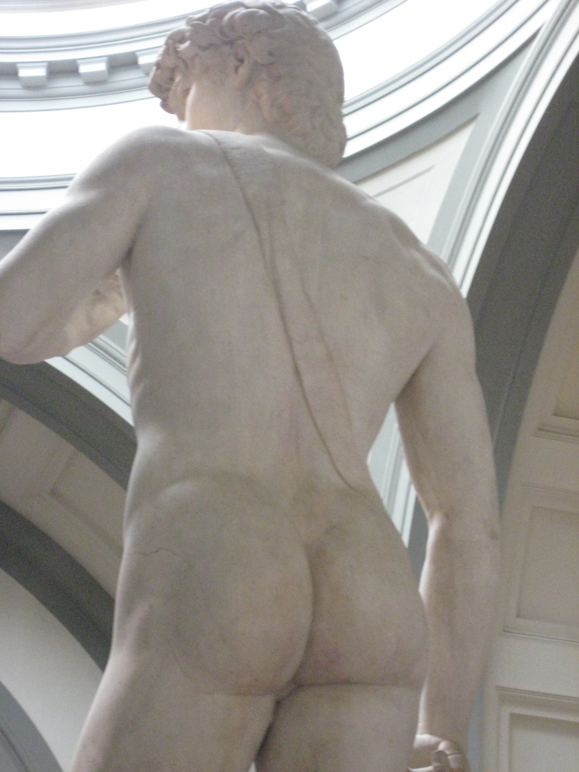 David by Michelangelo from behind - Quelle: WikiCommons, Details at end of article