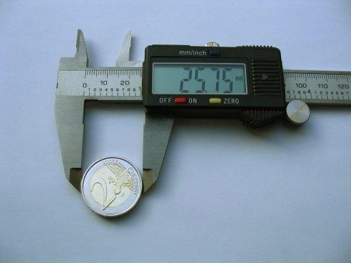 Um paquímetro digital