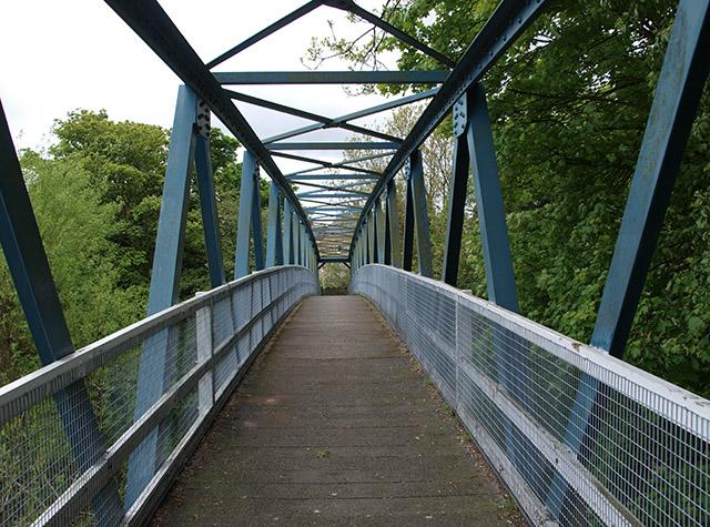 Footbridge over the River Esk - geograph.org.uk - 804715