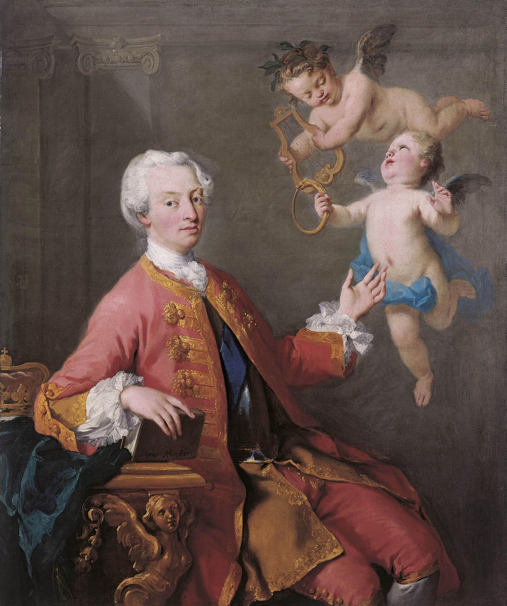 Portrait by Jacopo Amigoni, 1735