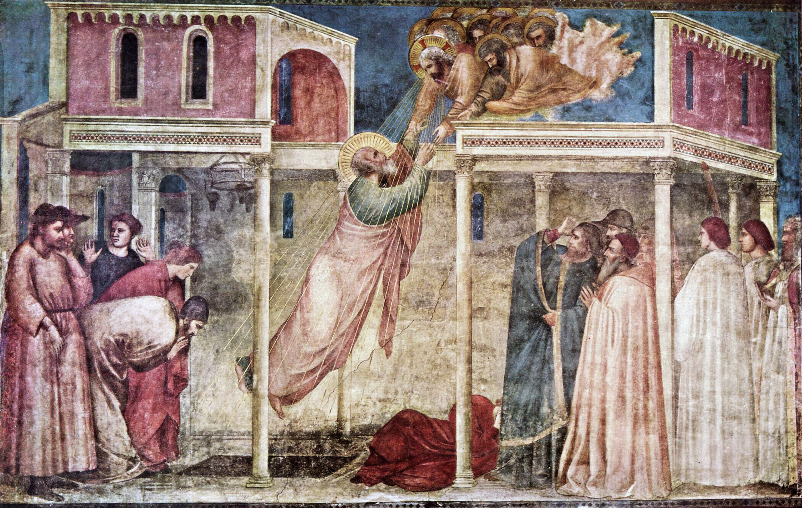 At this time he also painted the   Dormition of the Virgin    now in    Giotto Di Bondone Frescoes