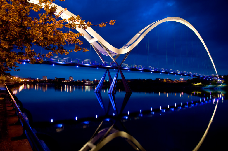 Infinity Bridge in Stockton