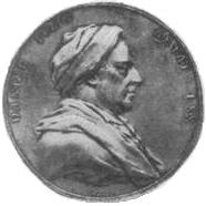 Medal posted for Daniel Itzig's 70th birthday in 1793 (Source: Wikimedia)