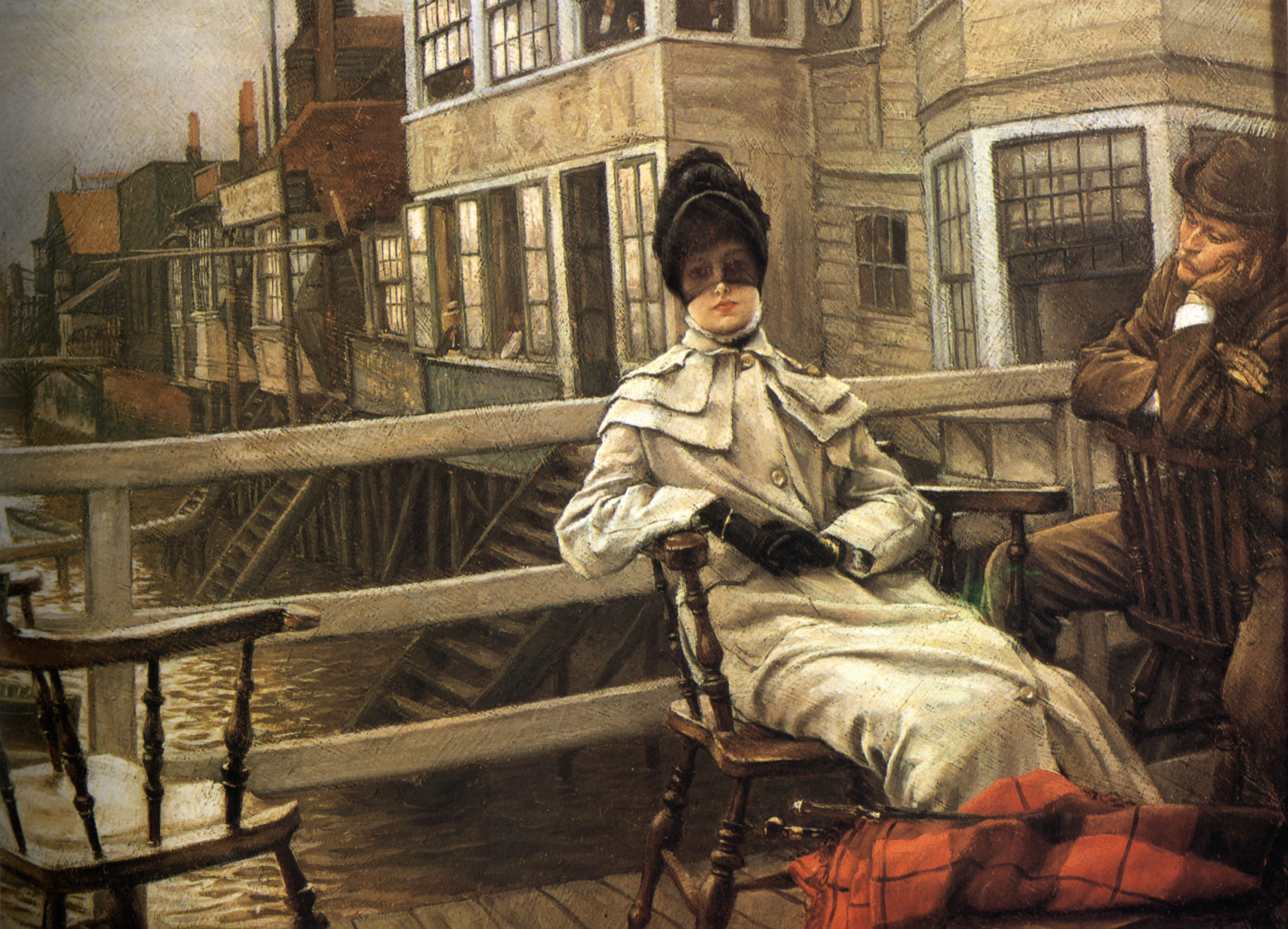 File:James Tissot - Waiting for the Ferry II.jpg - Wikimedia Commons