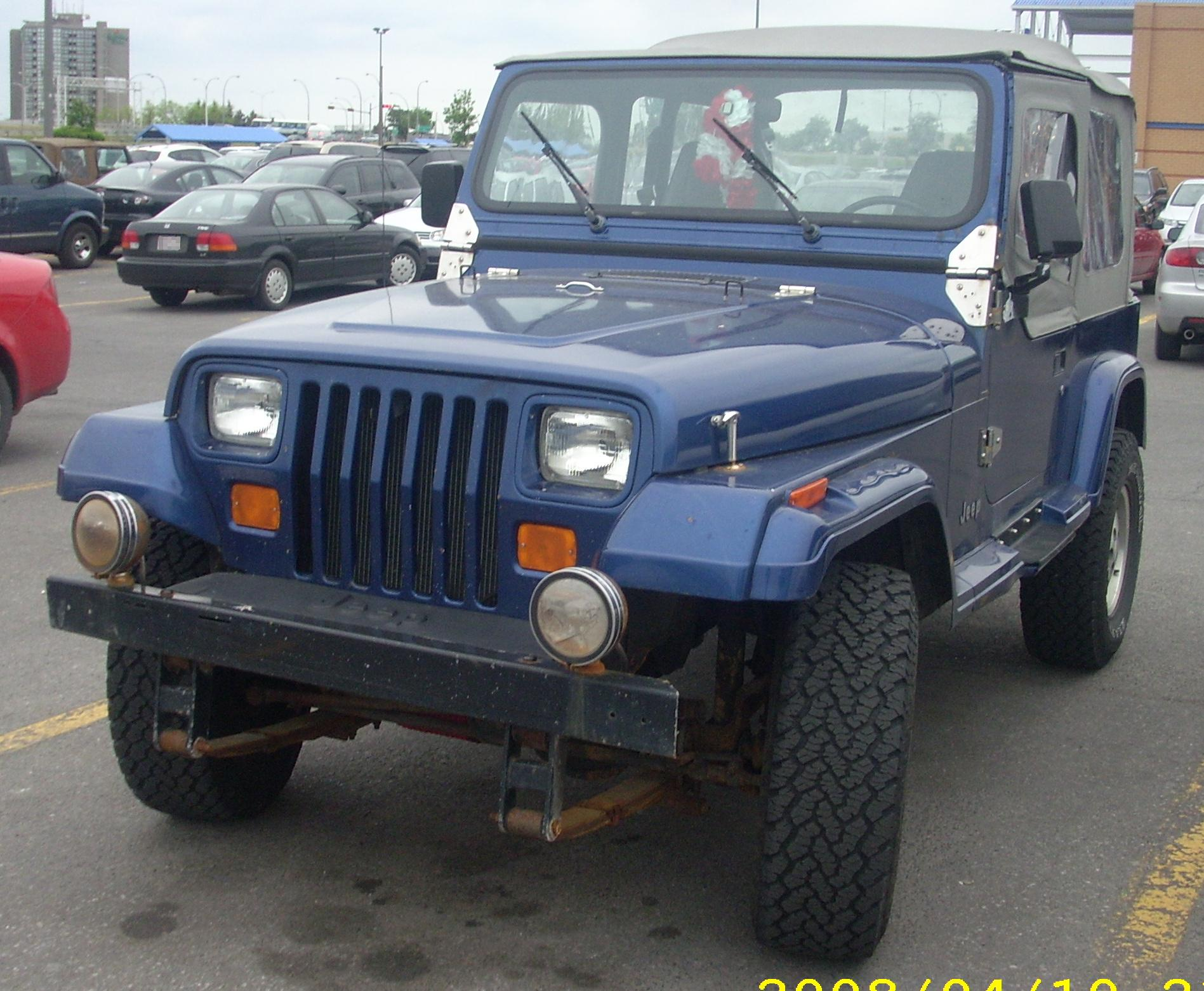 FileJeep Wrangler Convertible YJJPG  Wikimedia Commons