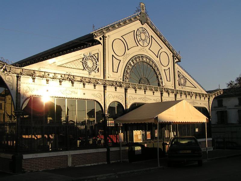 Market hall in Jonzac, Charente-Maritime, France
