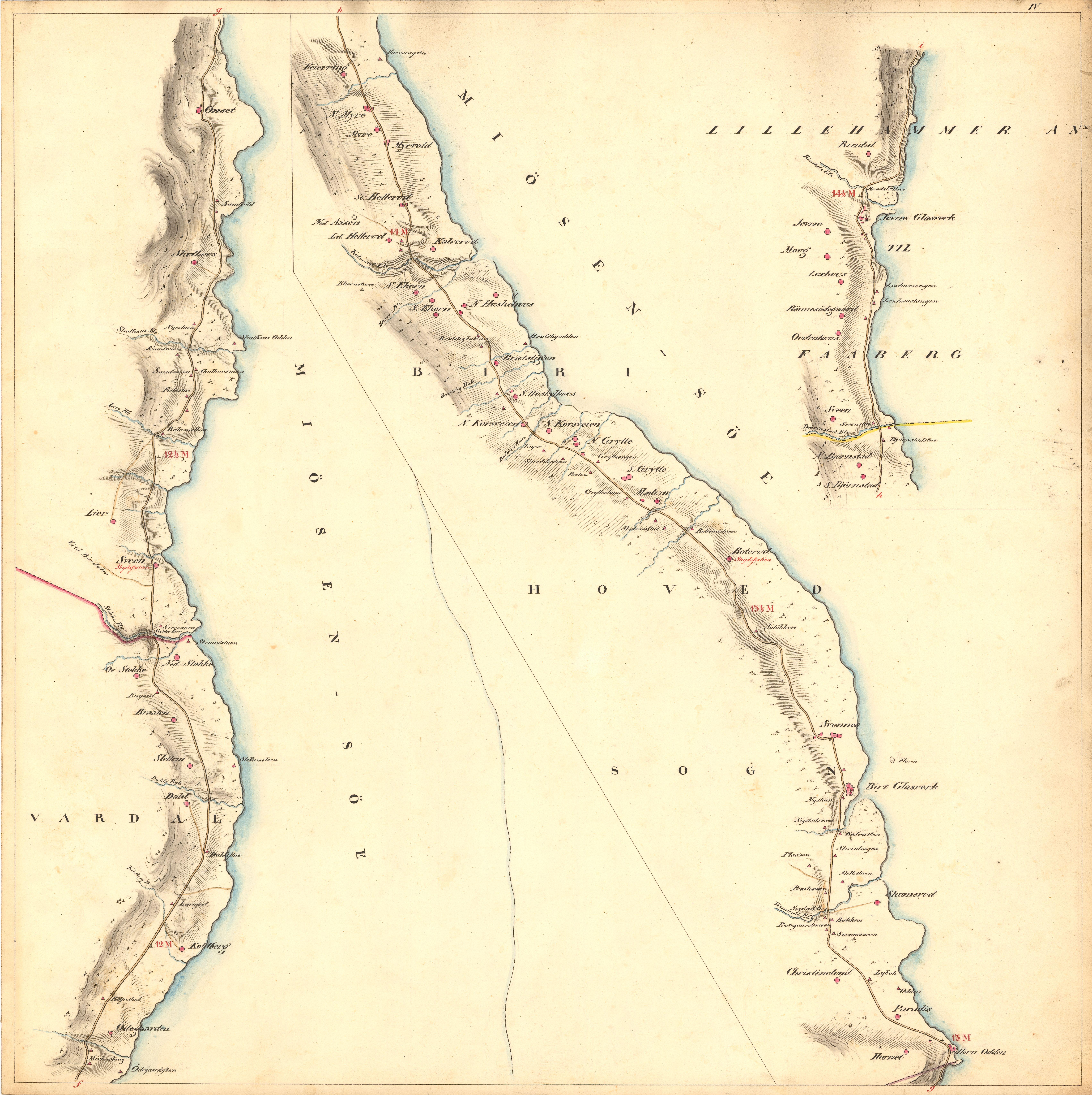 kart til og fra File:Kartblad 4  Kart over Veien fra Eidsvold igjennm Hurdalen  kart til og fra