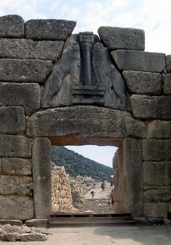 Львиные ворота в микенах доклад 929