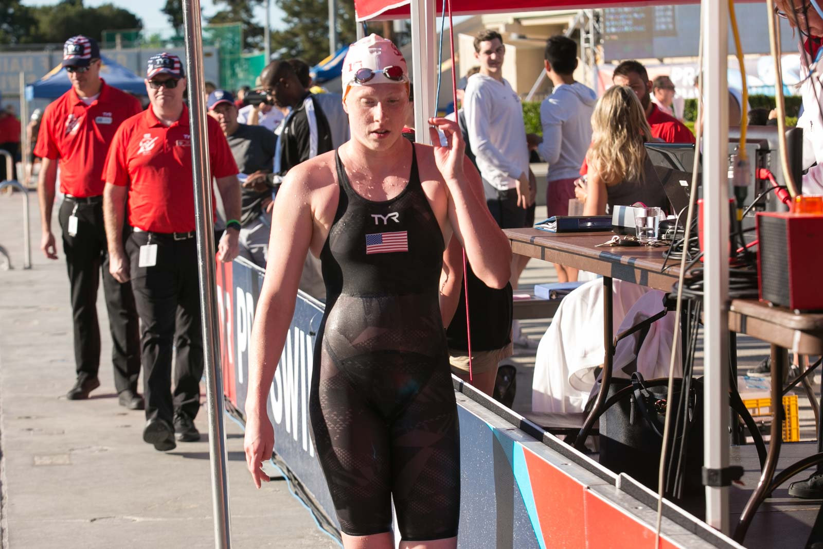 The 21-year old daughter of father Mark and mother Ginny Lilly King in 2018 photo. Lilly King earned a  million dollar salary - leaving the net worth at 0,3 million in 2018