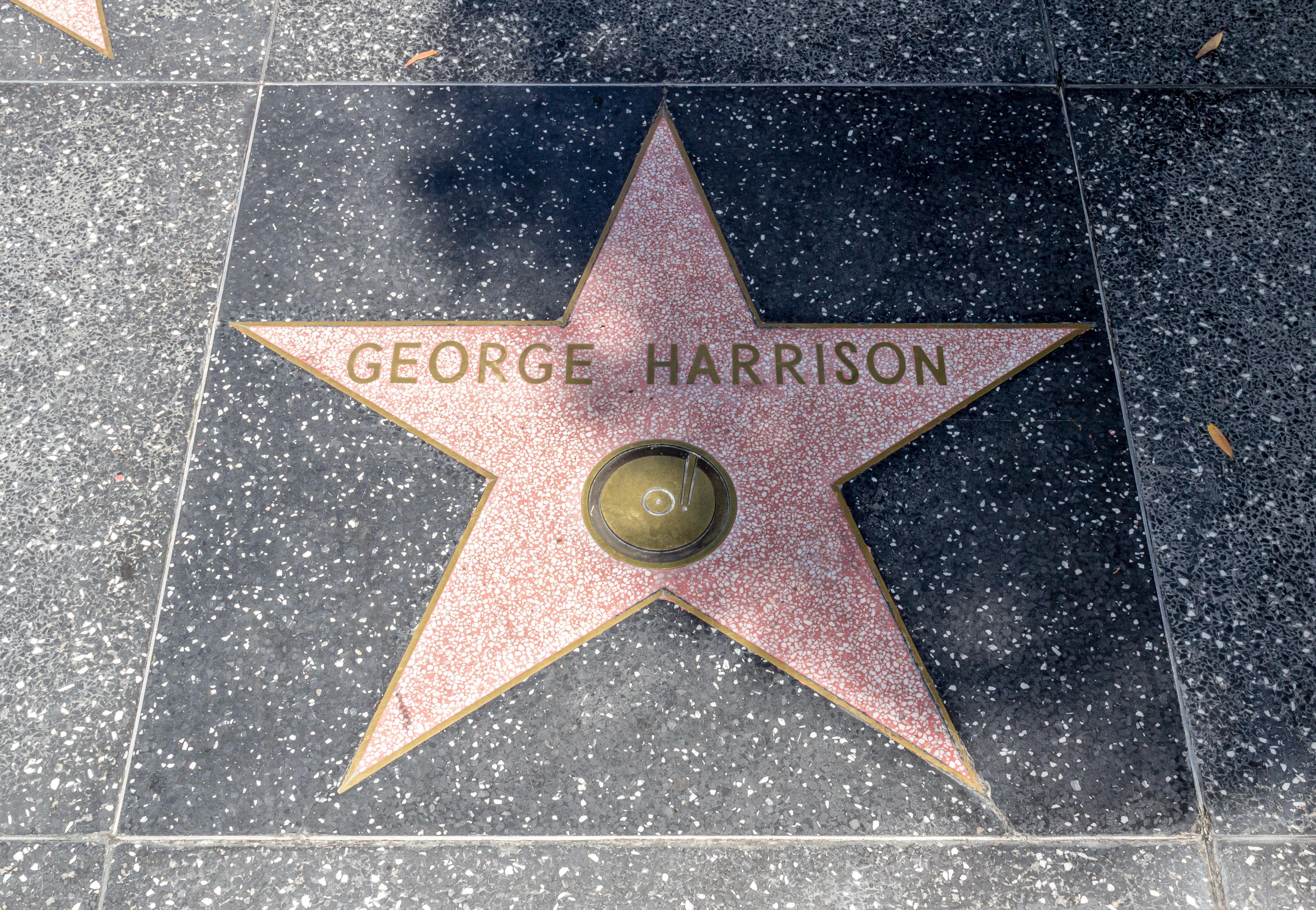 Estrella de George Harrison en el Paseo de la Fama de Hollywood.