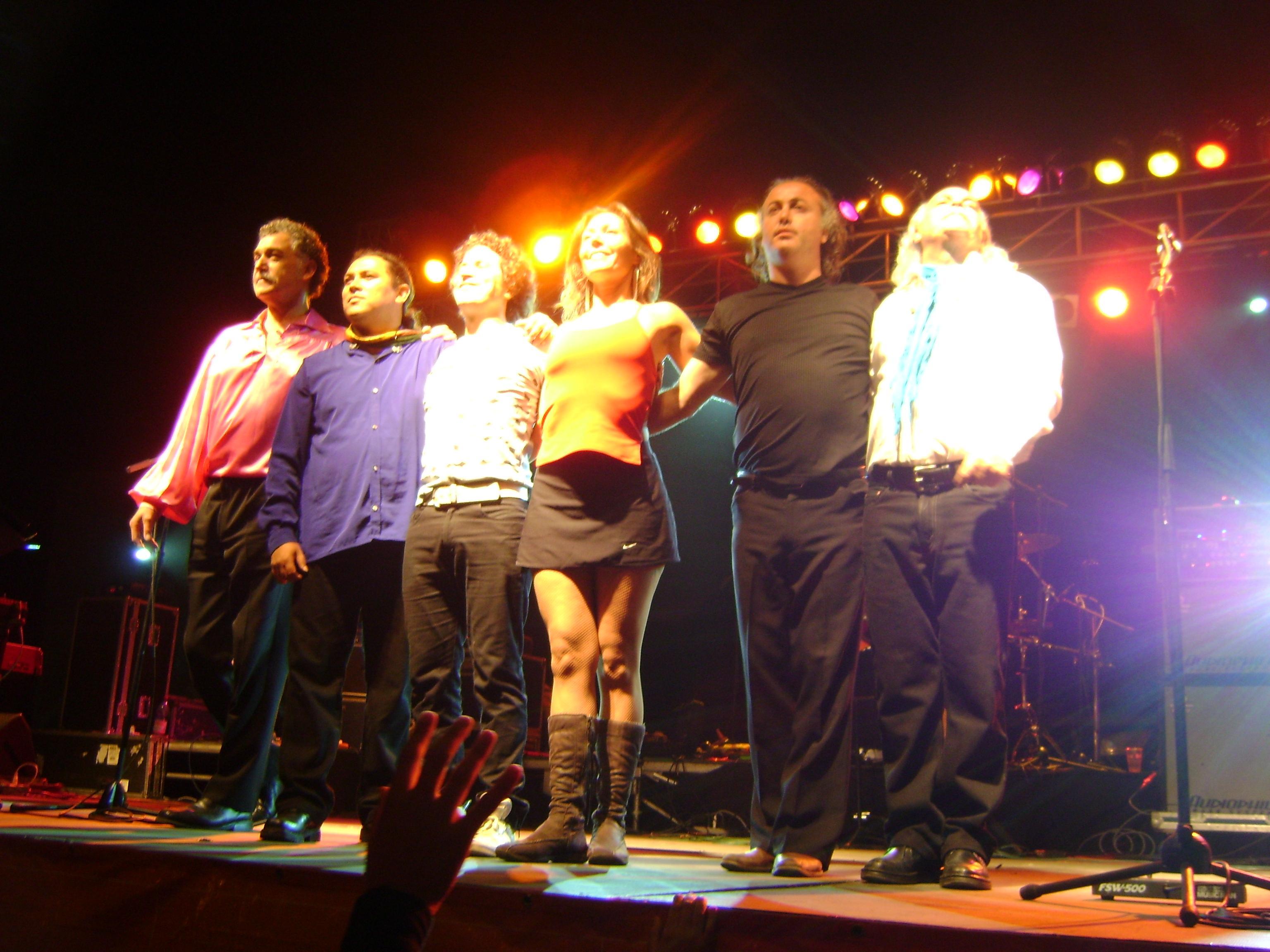 Los Jaivas durante su presentación en la Semana Pichilemina de 2009.