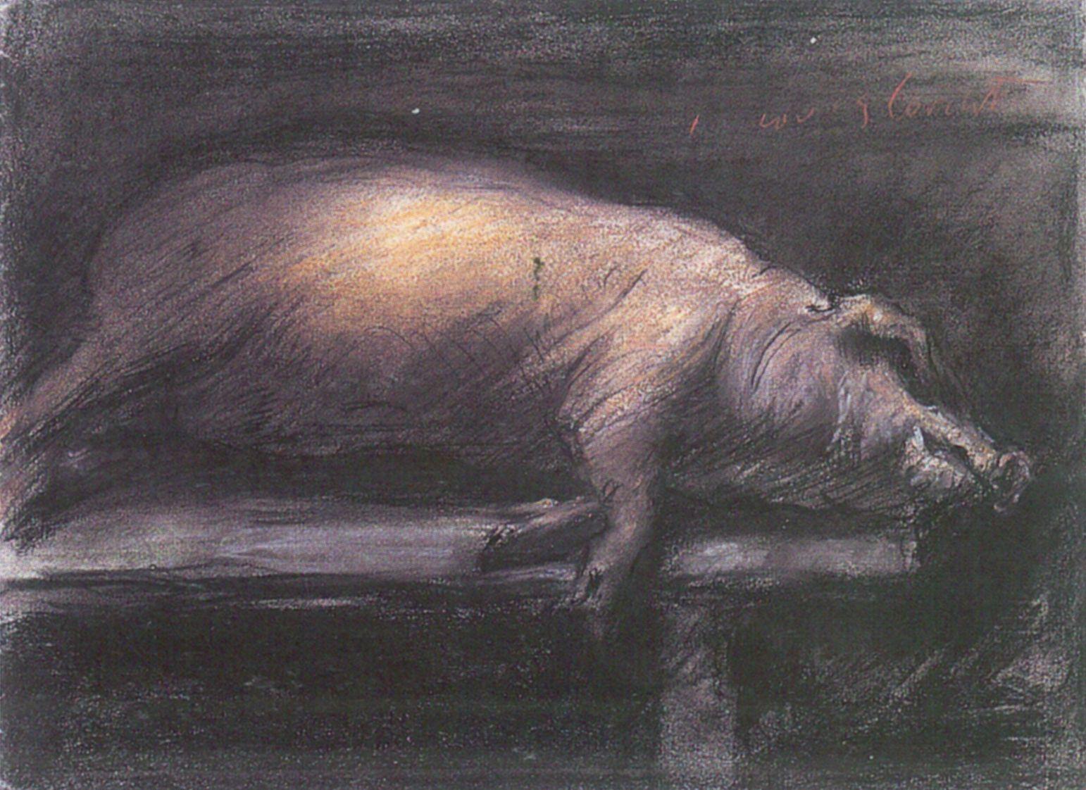 Lovis Corinth Geschlachtetes Schwein 1906