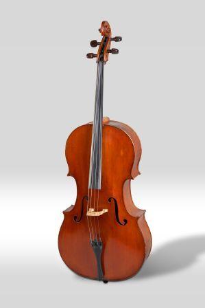 Violoncel conservat al Museu de la Música de Barcelona, obra de Joan Guillamí
