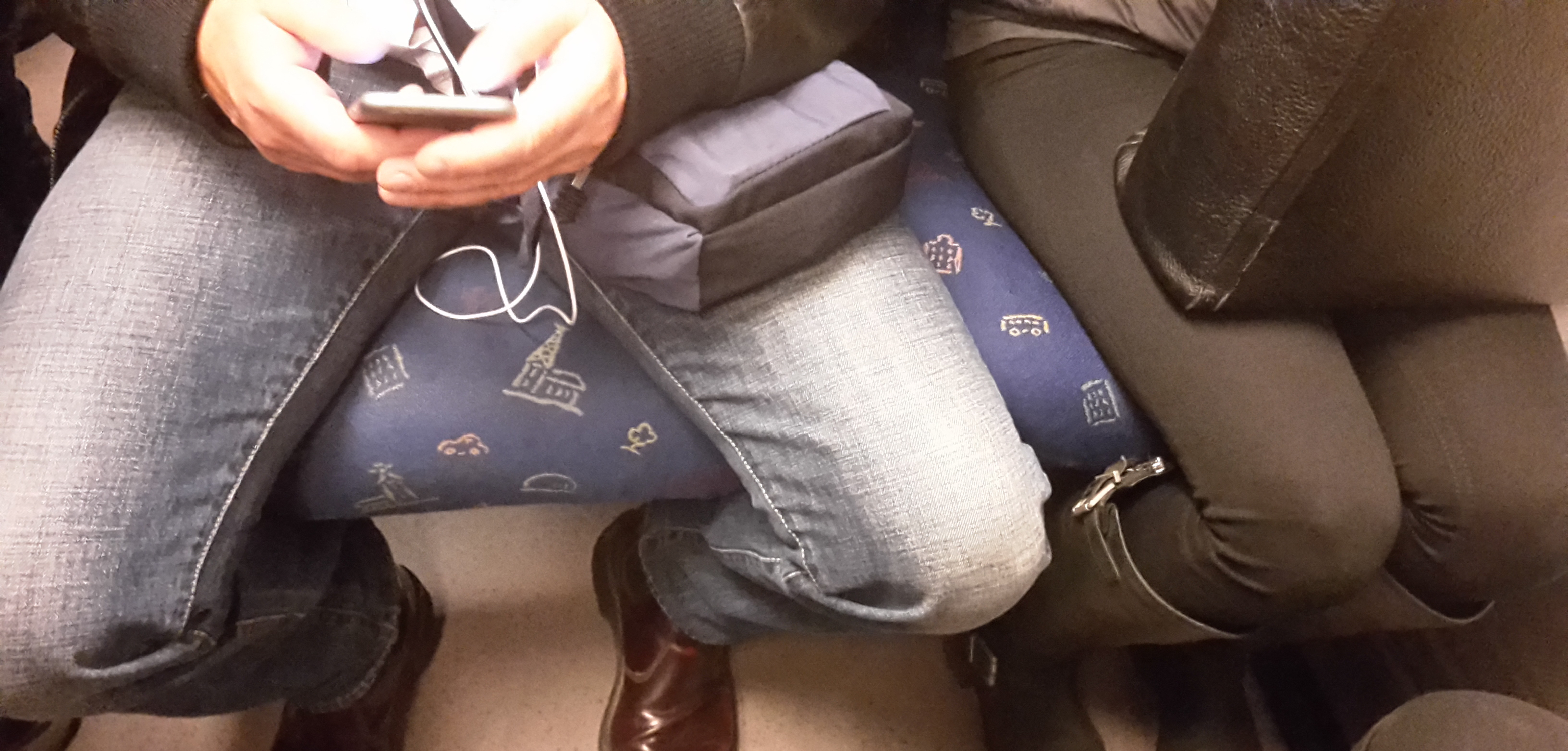 manspreading on the subway