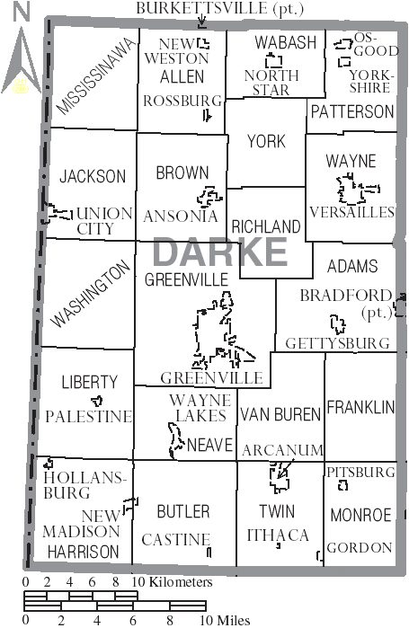File Map Of Darke County Ohio With Municipal And Township Labels Png