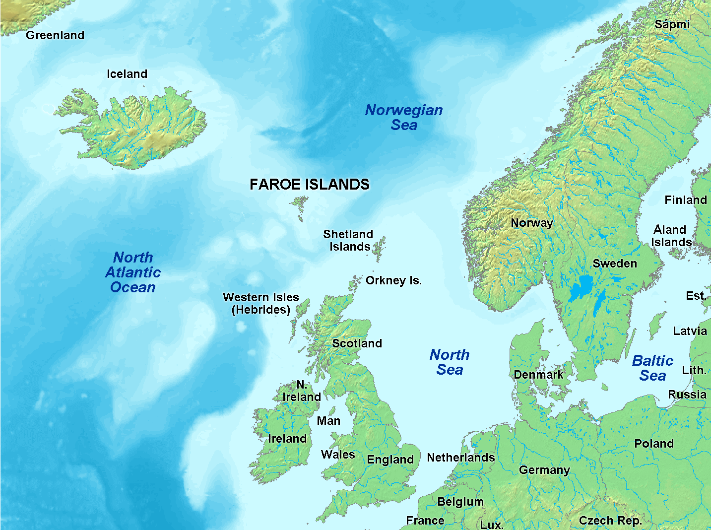 Atlas Of The Faroe Islands Wikimedia Commons - Aland islands political map