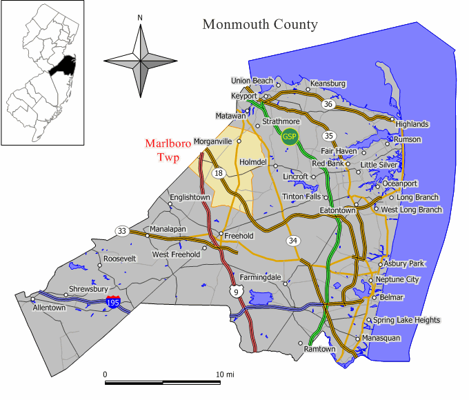 Image result for marlboro nj map
