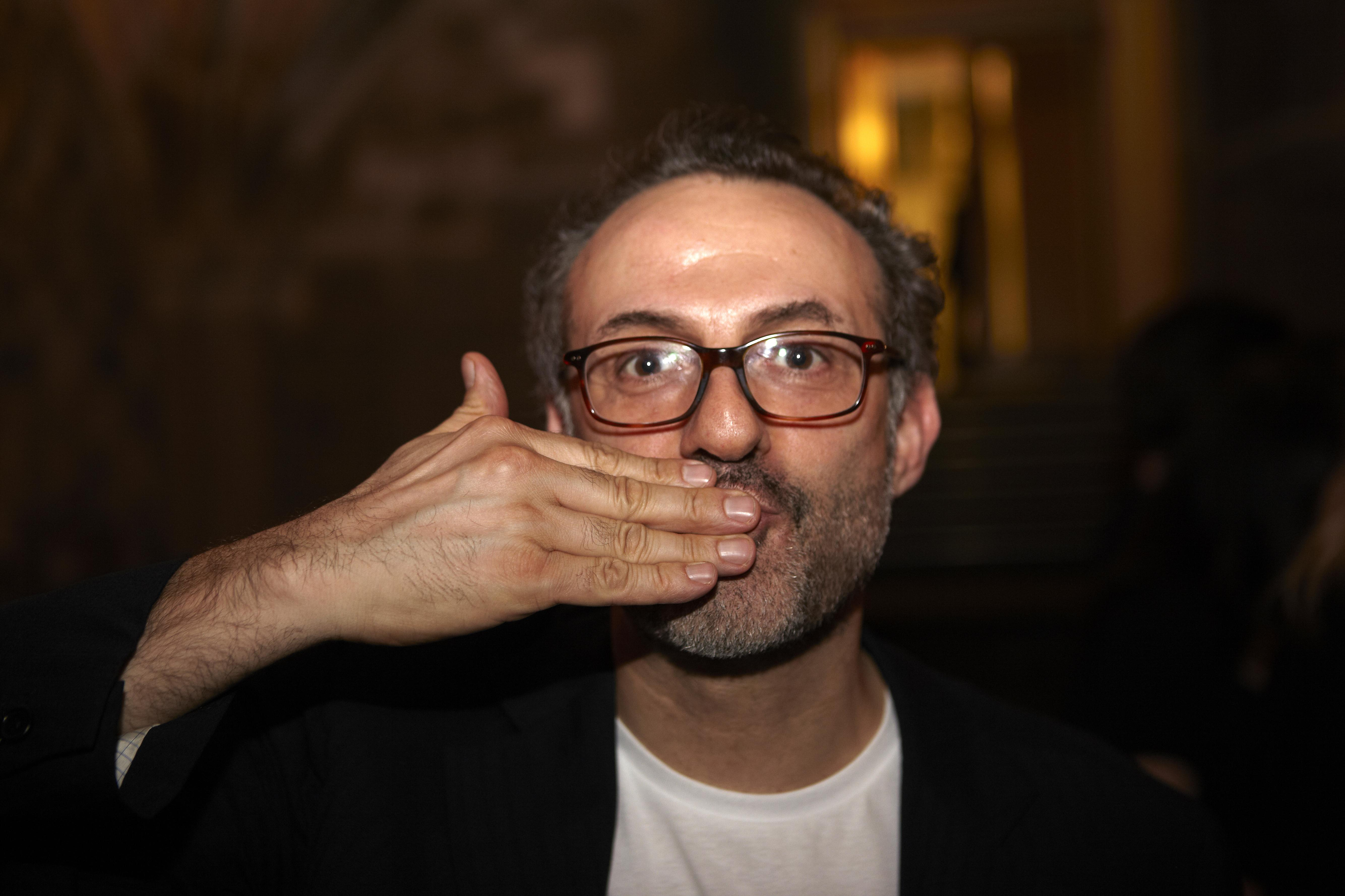 The 55-year old son of father (?) and mother(?) Massimo Bottura in 2018 photo. Massimo Bottura earned a  million dollar salary - leaving the net worth at 16 million in 2018