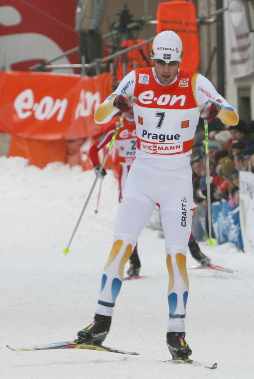 Mats Larsson during [[2007–08 Tour de Ski Tour de Ski competitions]] in [[Prague]], [[Czech Republic]] in December 2007