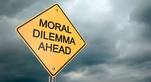 Moral Dilemma Ahead Sign