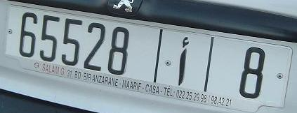plaque d 39 immatriculation marocaine wikip dia
