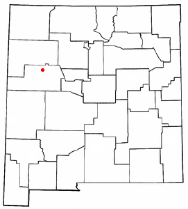 Location of Grants, New Mexico