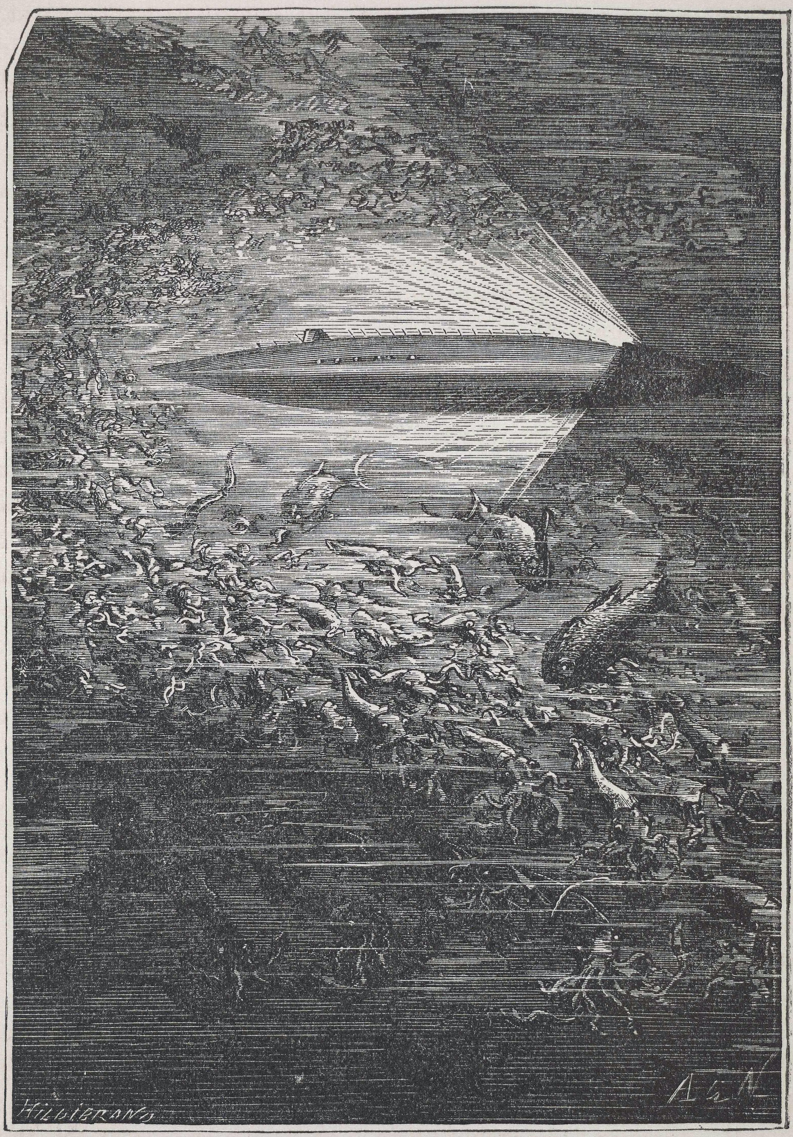 הנאוטילוס - מתוך אחד האיורים לספריו - הפודקאסט עושים היסטוריה