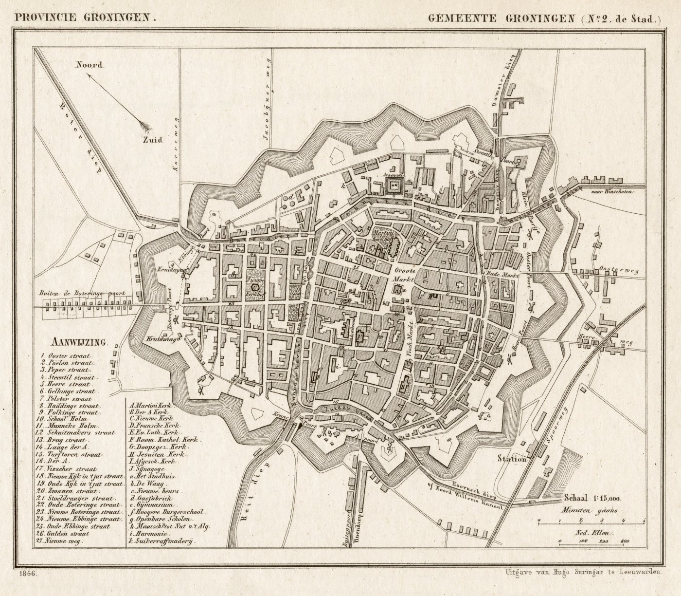 File:Netherlands, Groningen (city), map of 1866.jpg - Wikimedia Commons