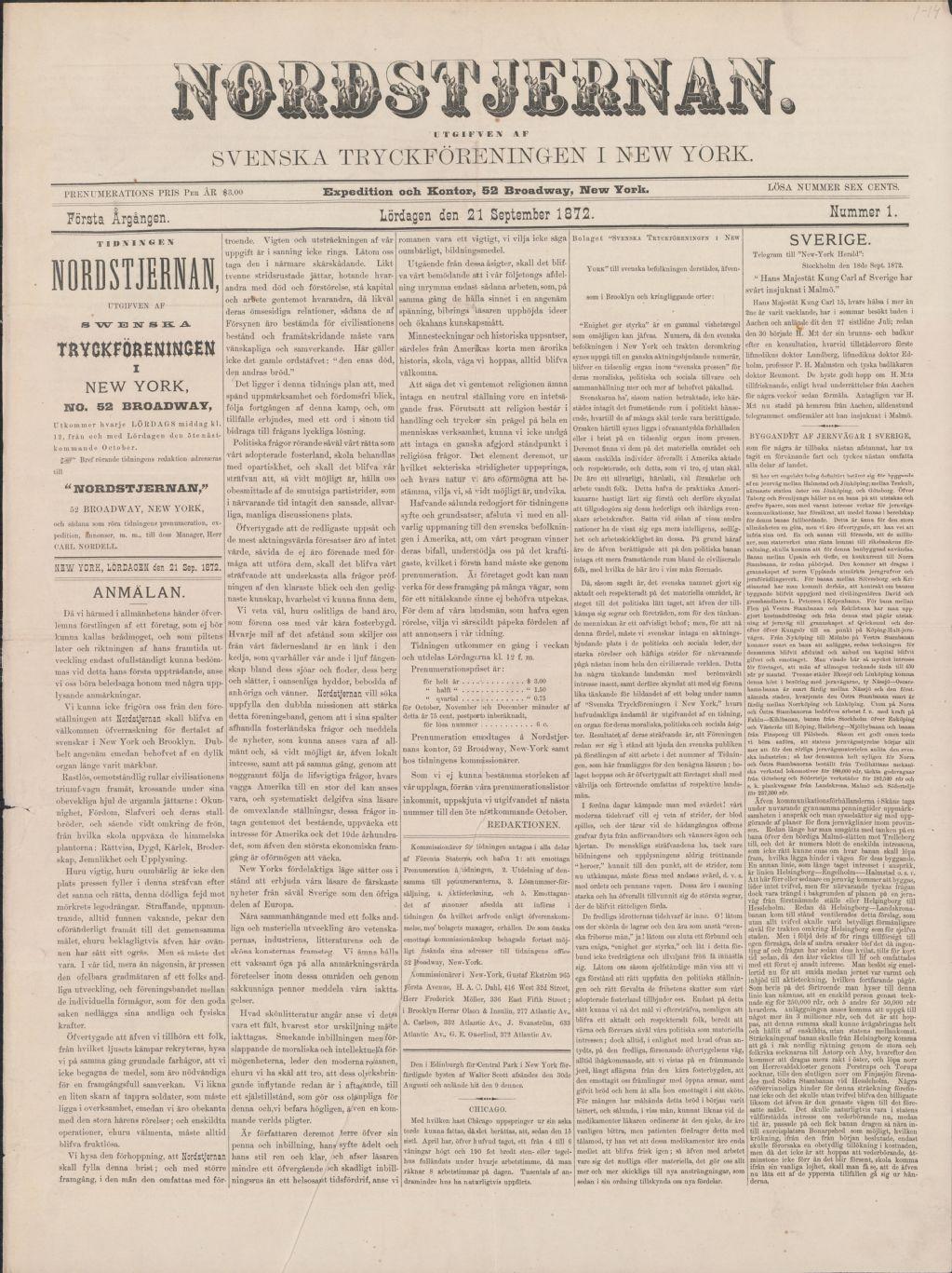 <i>Nordstjernan</i> (newspaper)