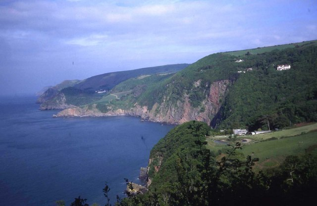 North Devon coast at Woody Bay - geograph.org.uk - 474004