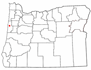 Location of Siletz, Oregon