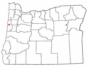 Lage von Siletz, Oregon