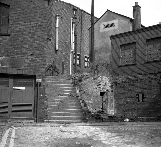 File Old Steps Off Baillie Street Rochdale Lancashire