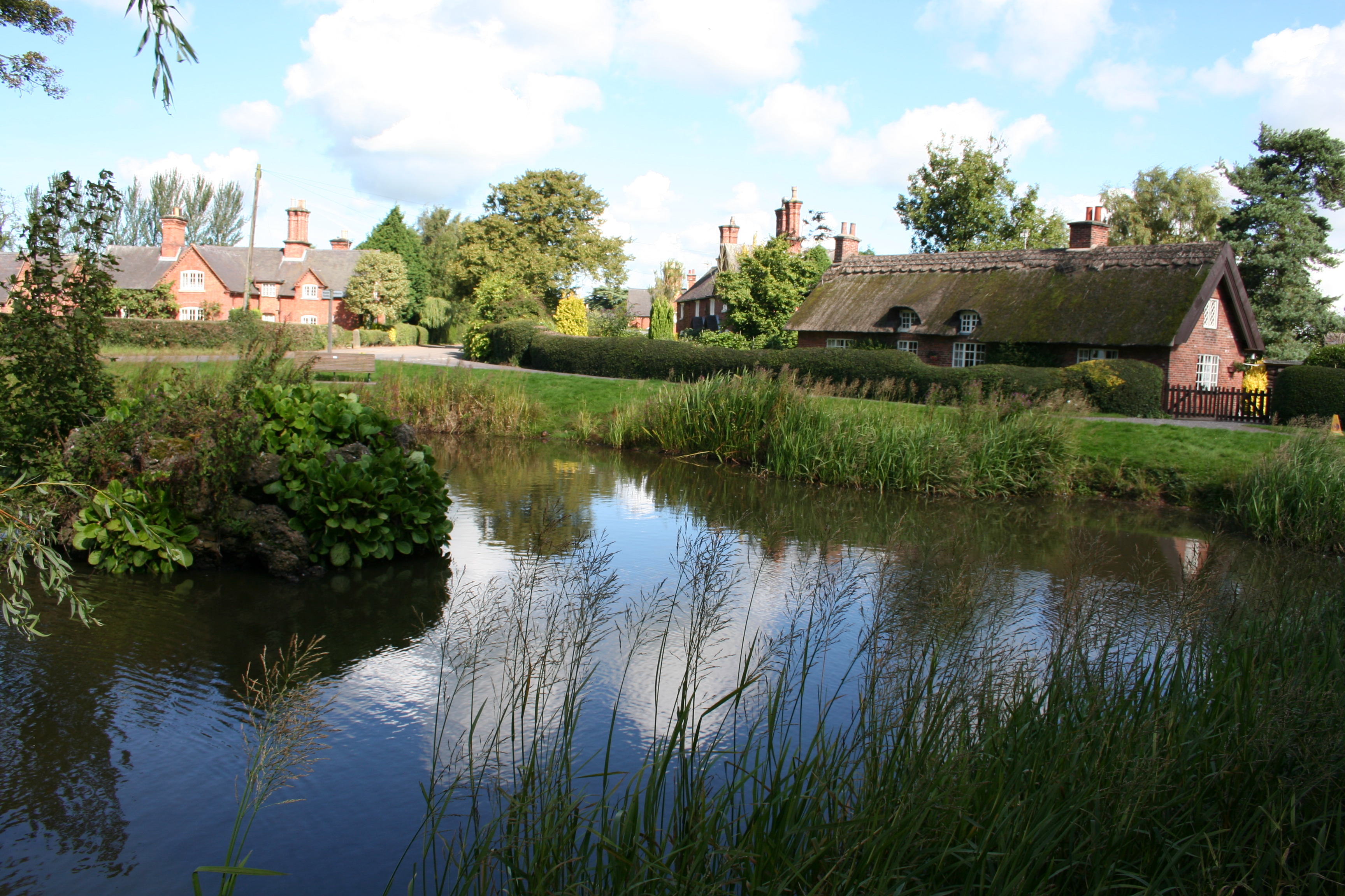 Osmaston village pond - geograph.org.uk - 1348184