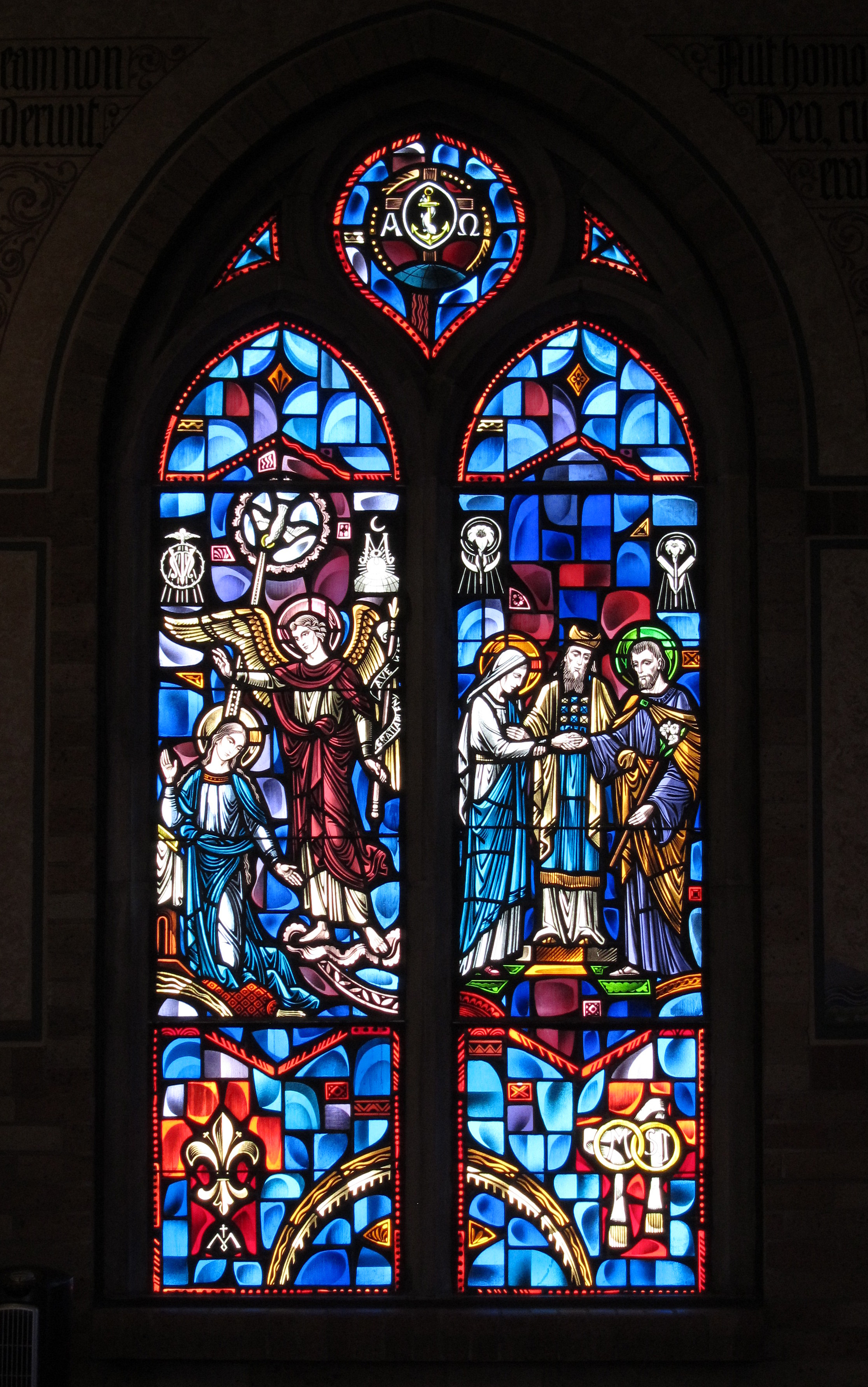 File Pcj Interior Saint Joseph Oratory Stained Glass The Annunciation And The Wedding Of