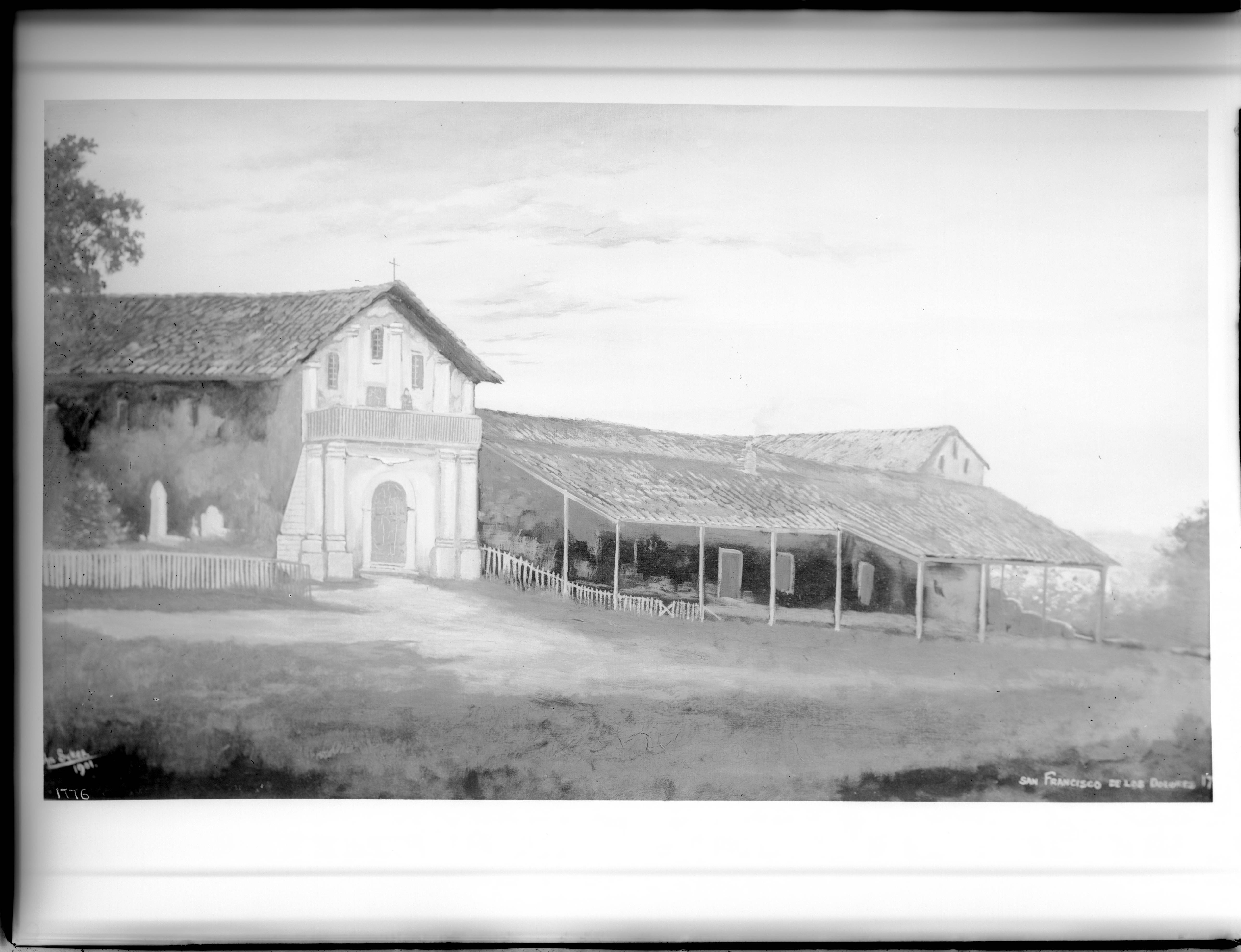 File:Painting of Mission San Francisco de Asis (Dolores), ca.1901 ...