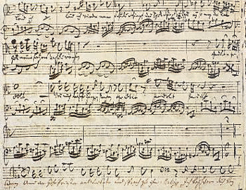 Бах ария из страстей по матфею ноты