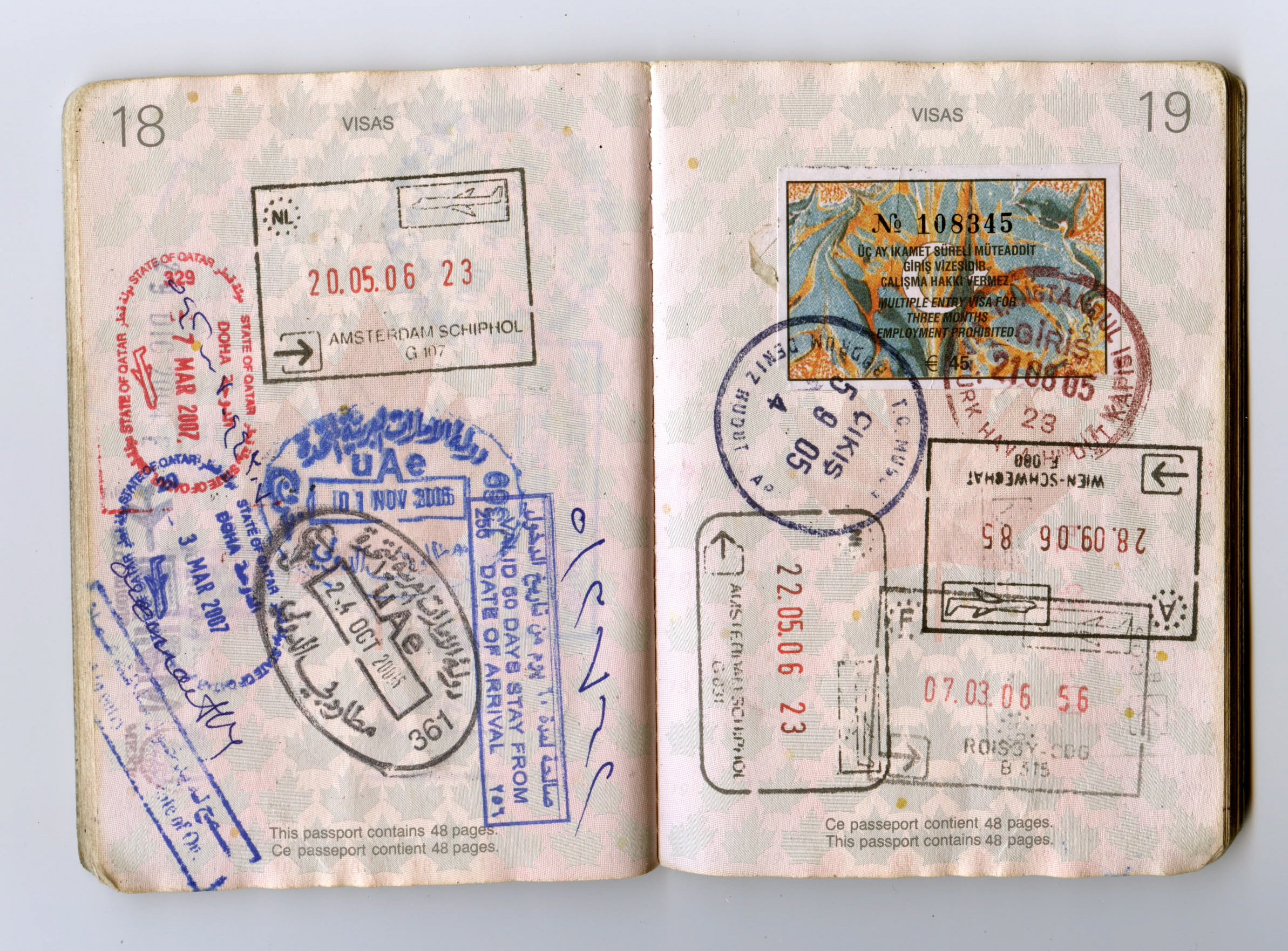 What does a russian visa look like