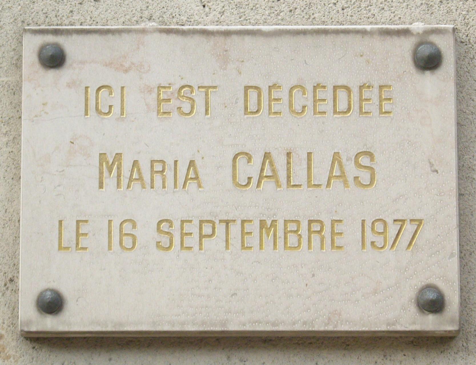 File plaque maria callas 36 avenue georges mandel paris wikimedia - Avenue georges mandel ...