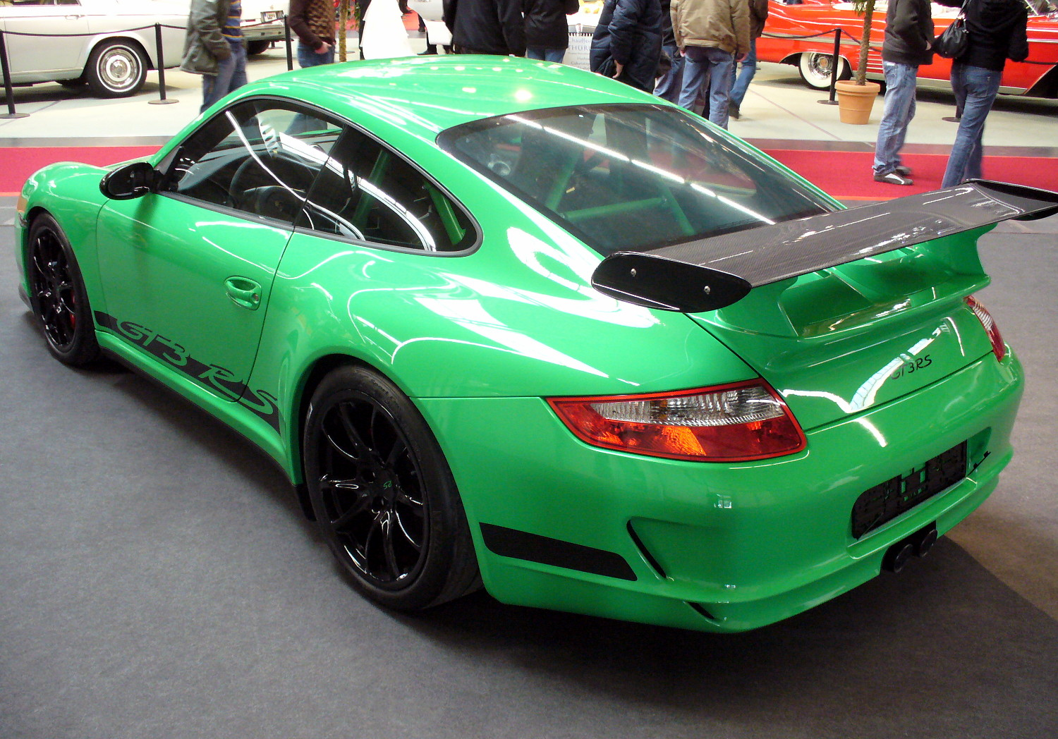 file porsche 997 gt3 rs heck jpg wikimedia commons. Black Bedroom Furniture Sets. Home Design Ideas