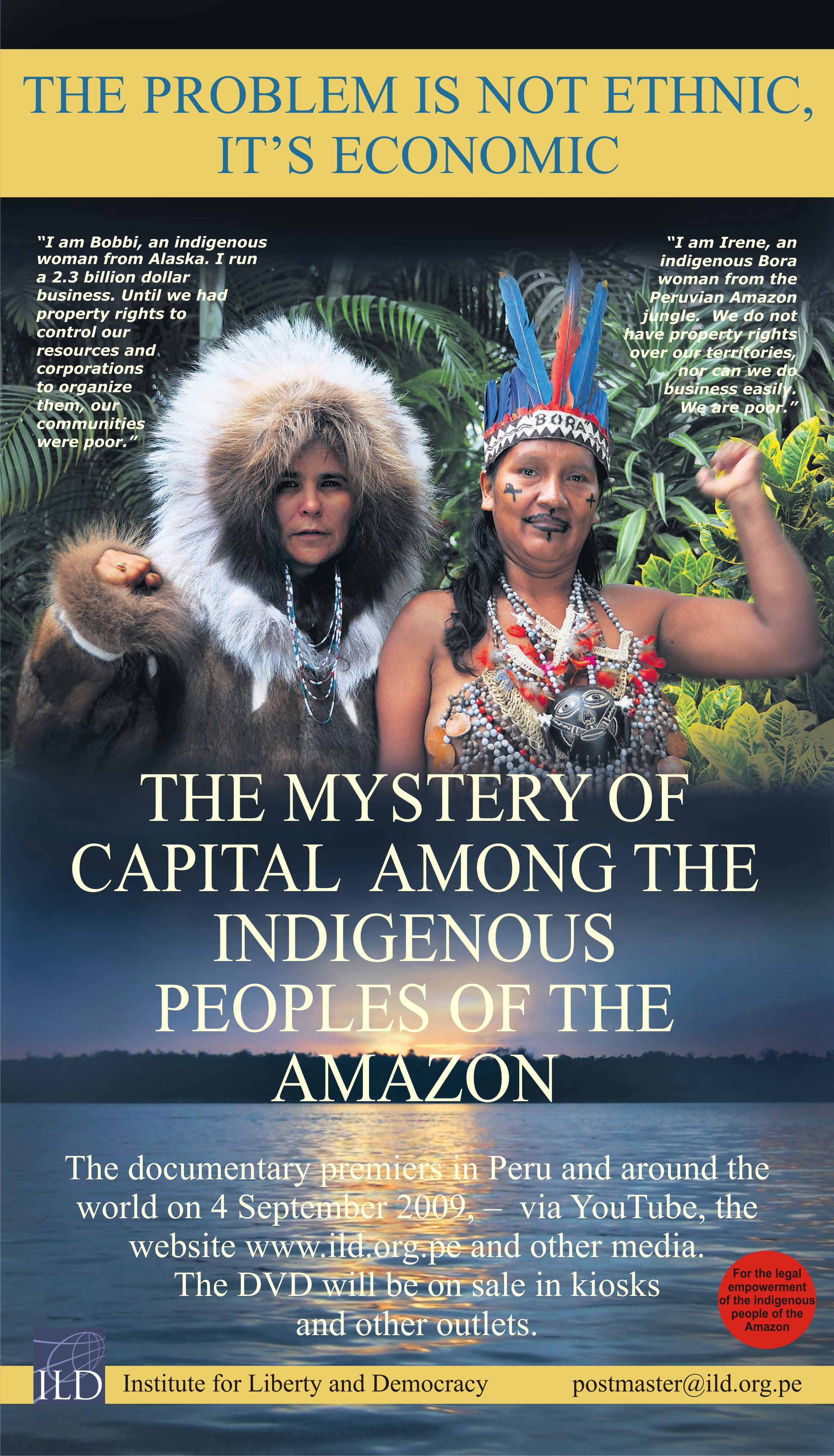 File:Poster for Documentary The Mystery of Capital among the Indigenous Peoples of the Amazon