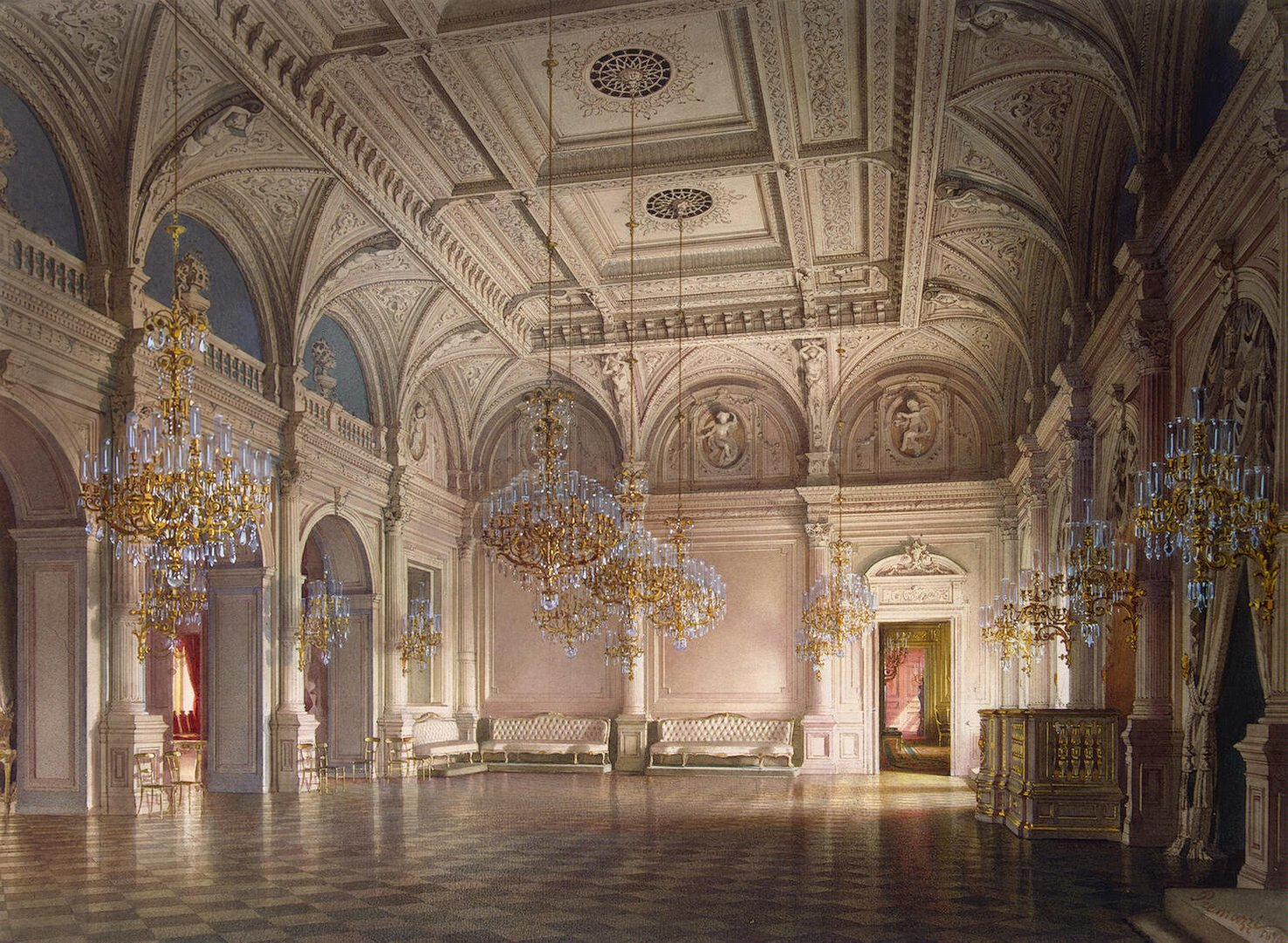 File:Premazzi. Mansion of Baron Stieglitz. The Ballroom ...