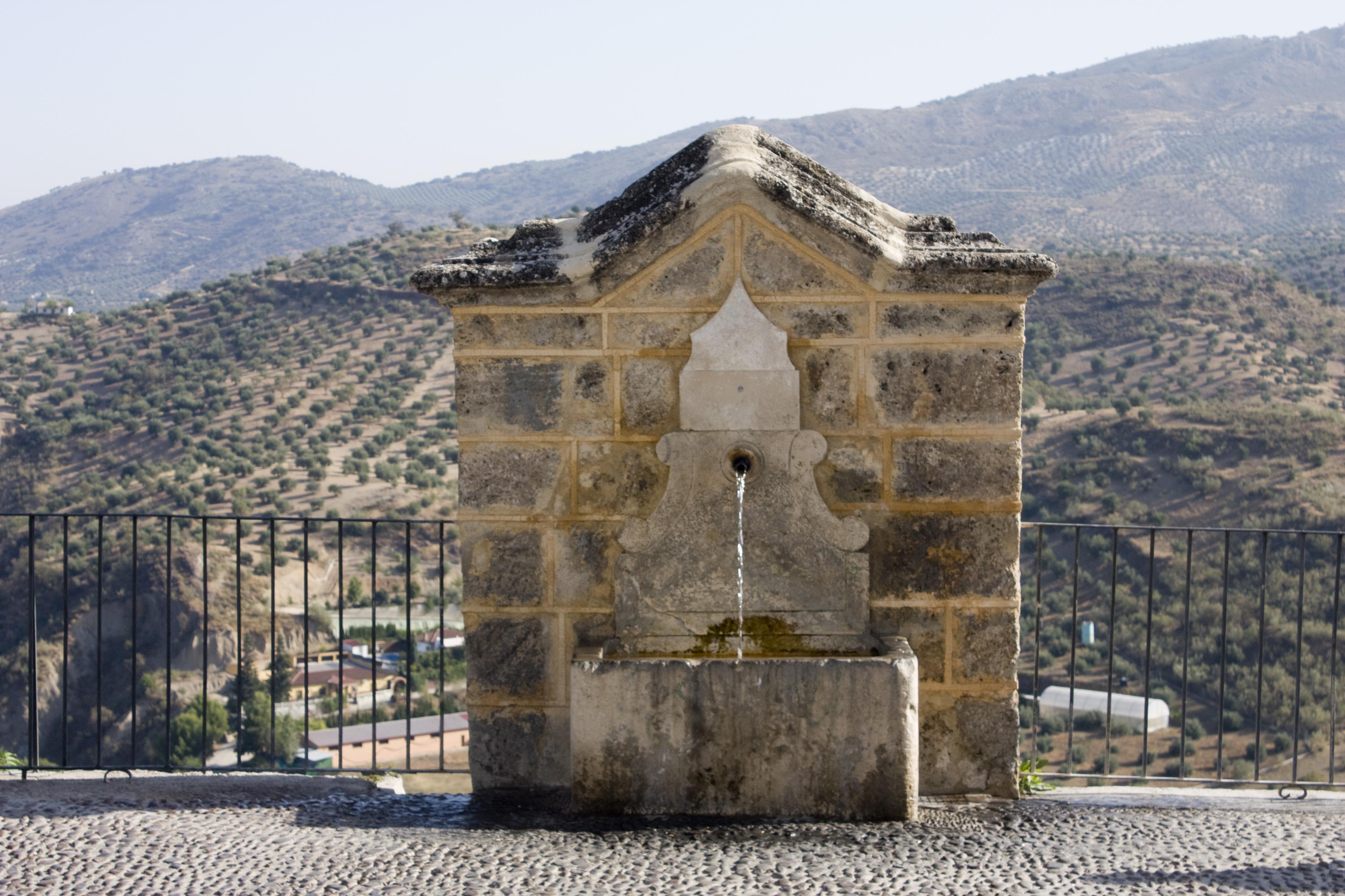 File priego de c rdoba fuente en las murallas - Priego de cordoba fotos ...