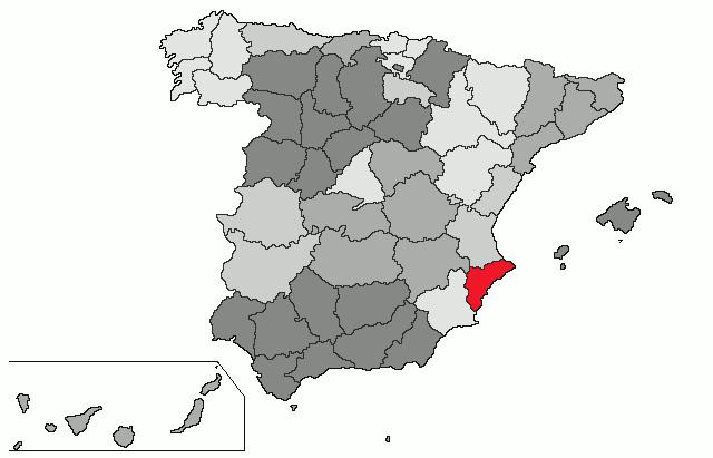 mapa de espanha alicante Alicante (província) – Wikipédia, a enciclopédia livre mapa de espanha alicante