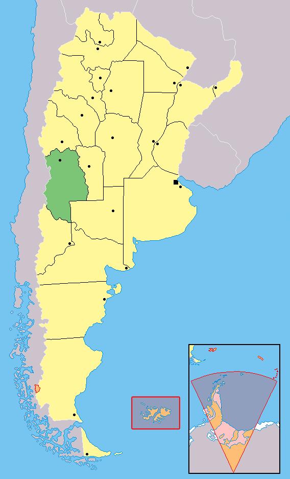 Ubicación de Mendoza