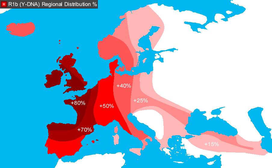 Spread of Y-DNA Haplogroup R1b