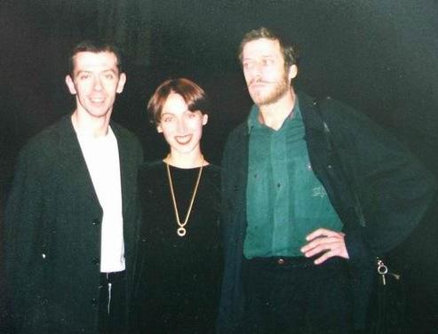 Алексей Ратманский, его жена Татьяна и Юрий Ханон на премьере «Среднего дуэта», 1998г.