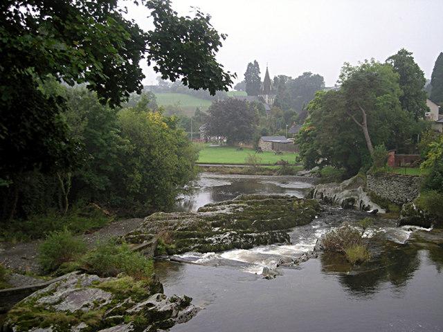 River Wye at Rhayader - geograph.org.uk - 968745