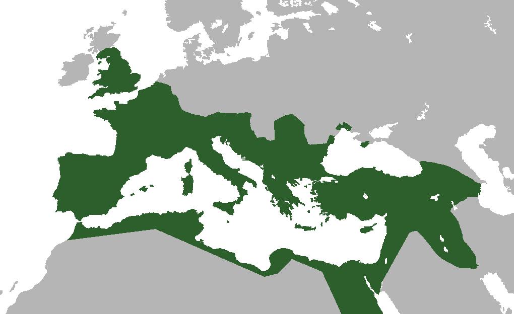 Map of the Roman Empire, 117 CE